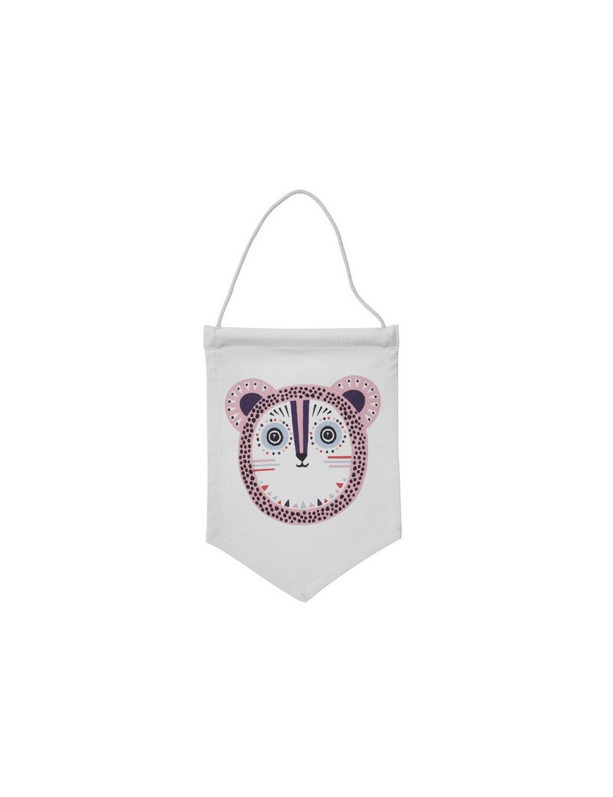 ferm living billy bear wall flag - rose