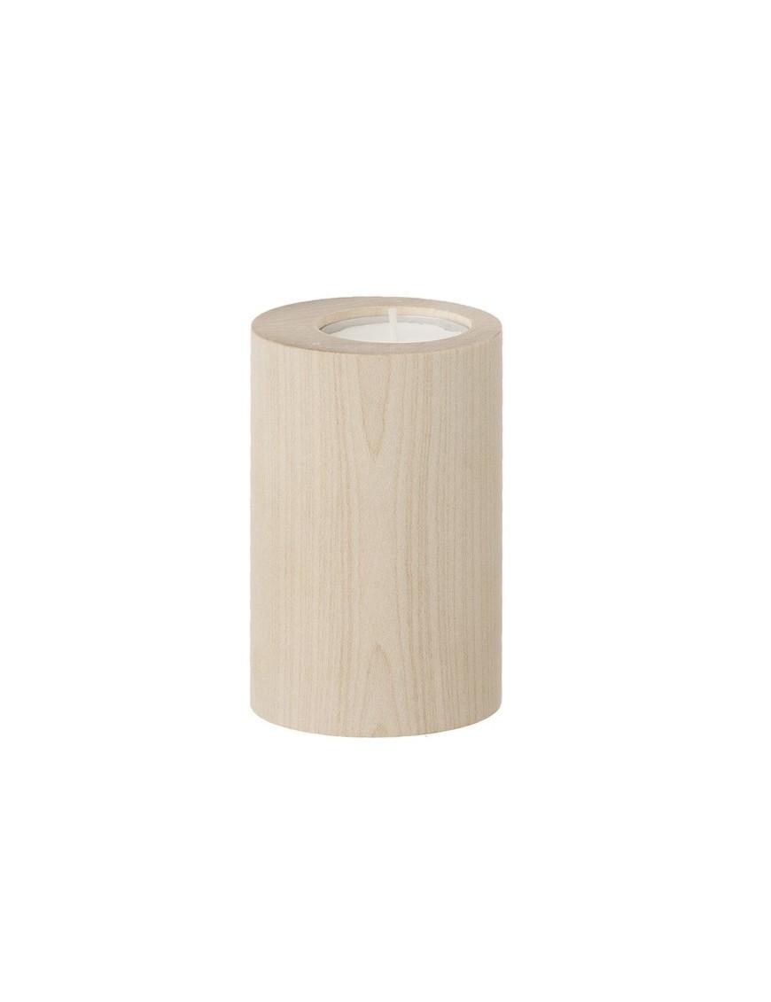 FERM LIVING | bougeoir cylindrique: bois d'érable