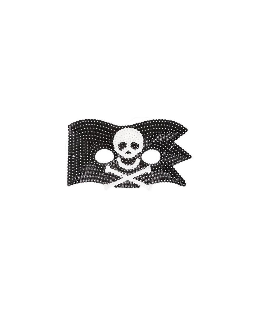masque de pirate en sequins rice