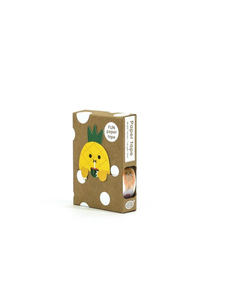 Masking Tape 5 Fruits + Marque Page Ananas Noodoll