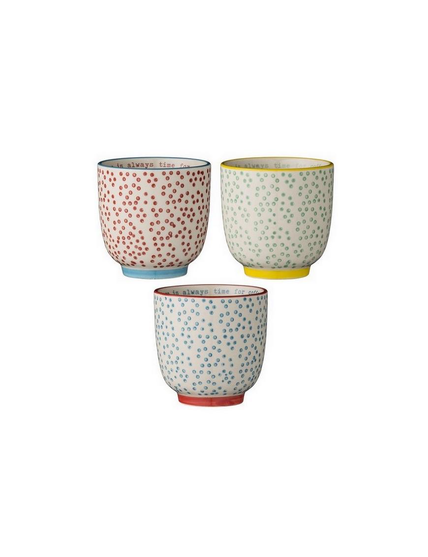 Set de 3 tasses Laura Bloomingville