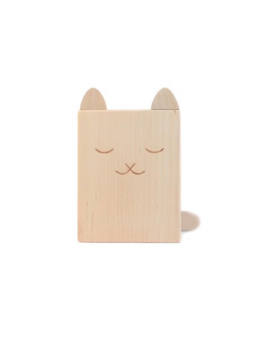 briki vroom vroom pot à crayons en bois chat