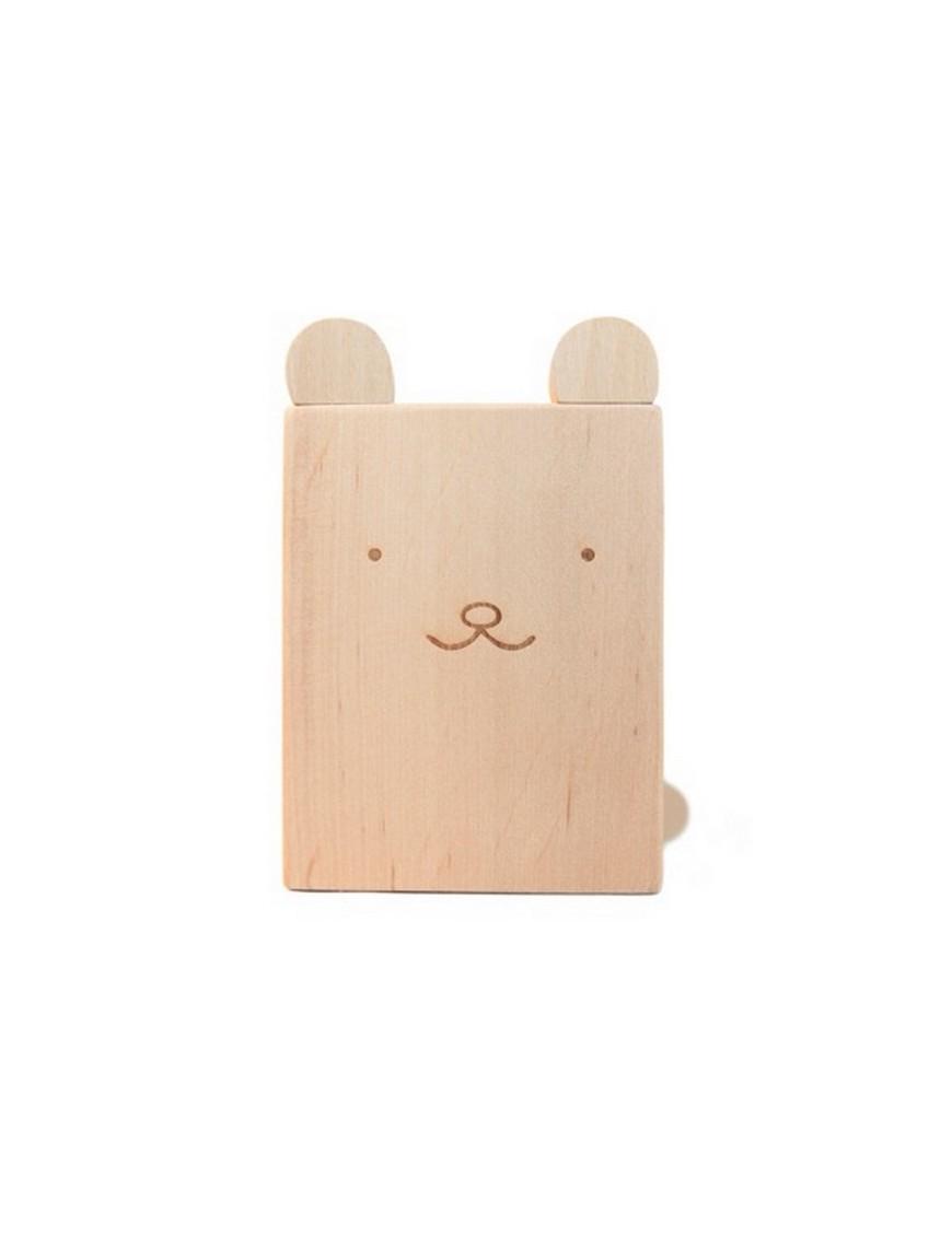briki vroom vroom pot à crayons en bois ours