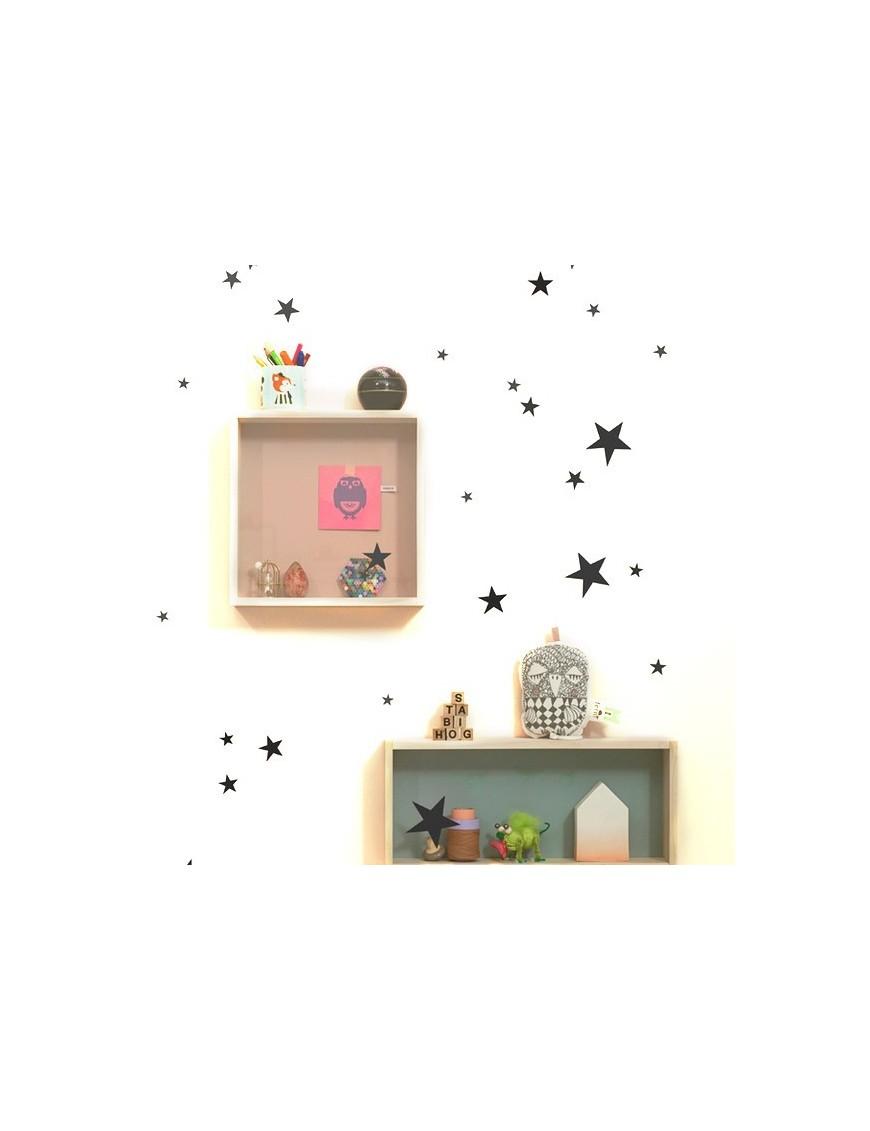 Stickers Mini Stars - Noir - FERM LIVING