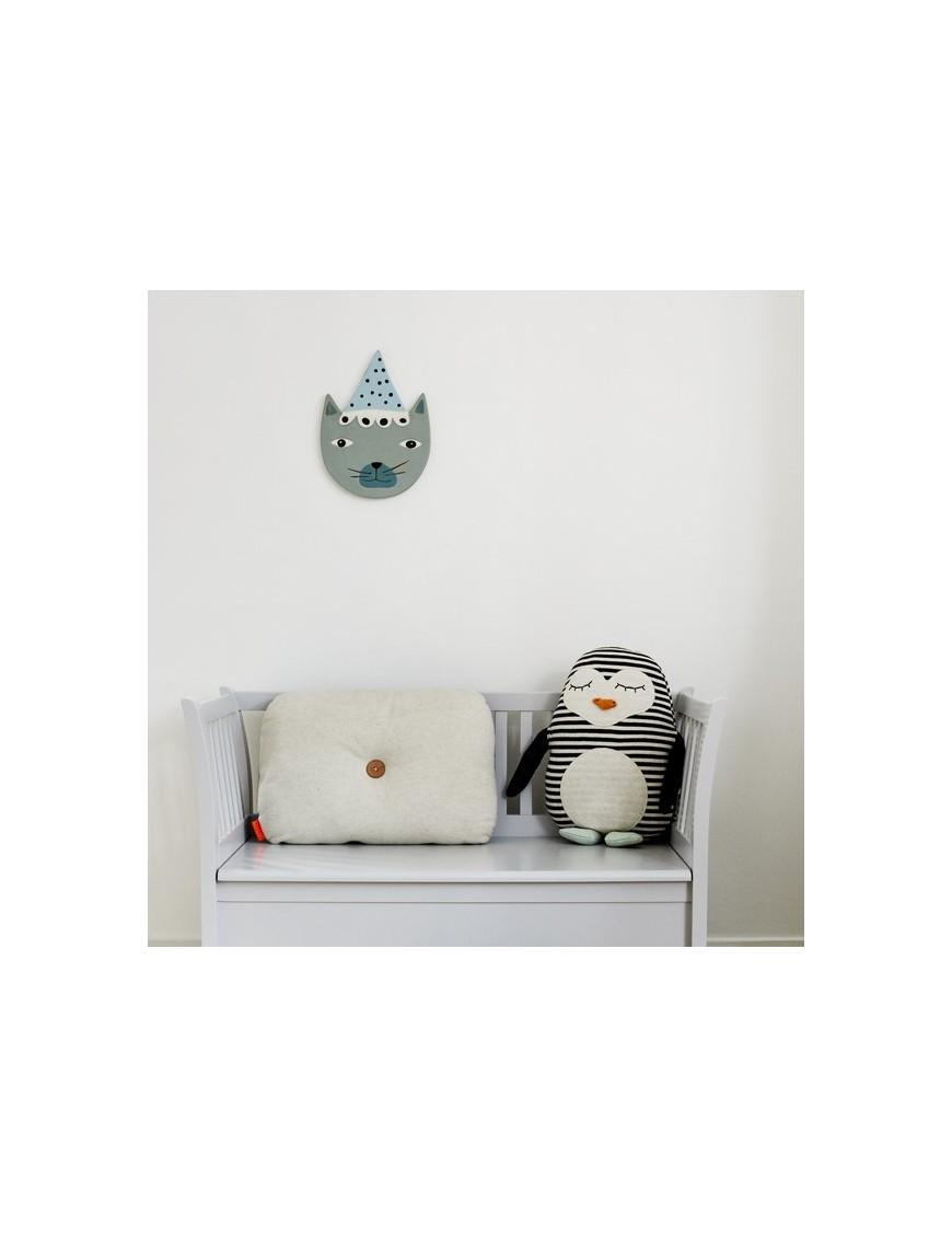 Chat en céramique à relief OYOY mini