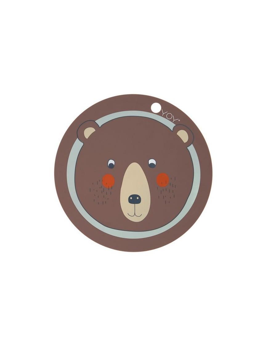 oyoy set de table design enfant ours en silicone