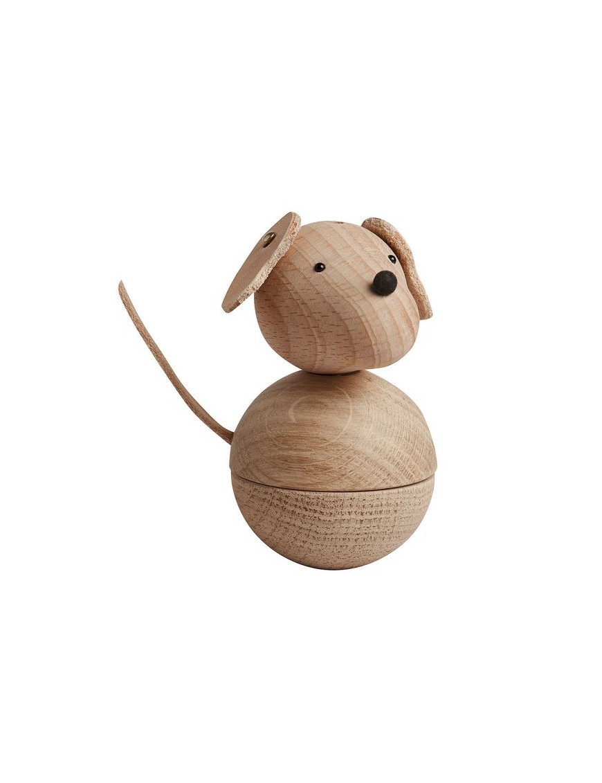 oyoy chien leika en bois massif - hêtre & chêne