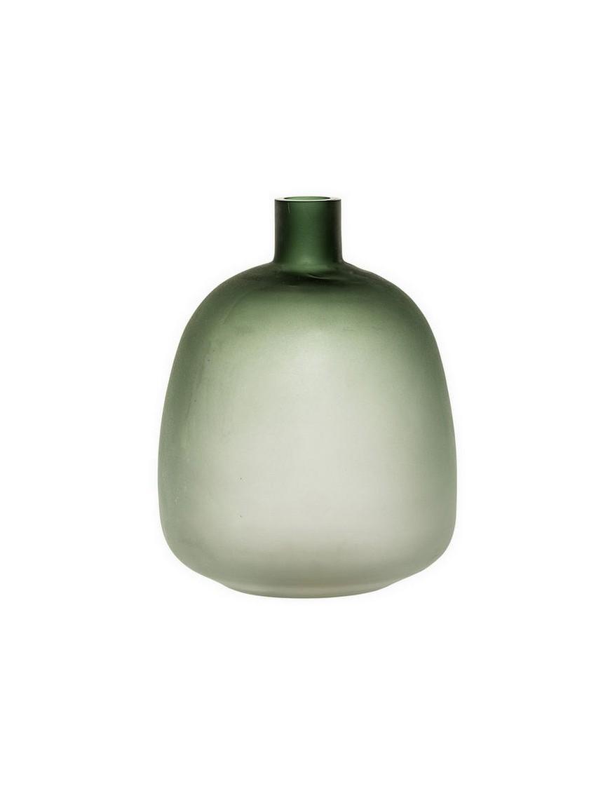 Vase en verre teinté vert Bloomingville