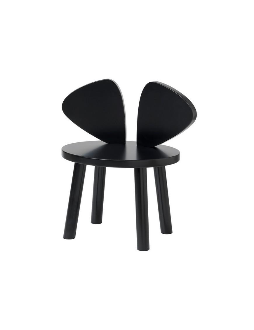 Chaise enfant Mouse - noir (2-5ans)