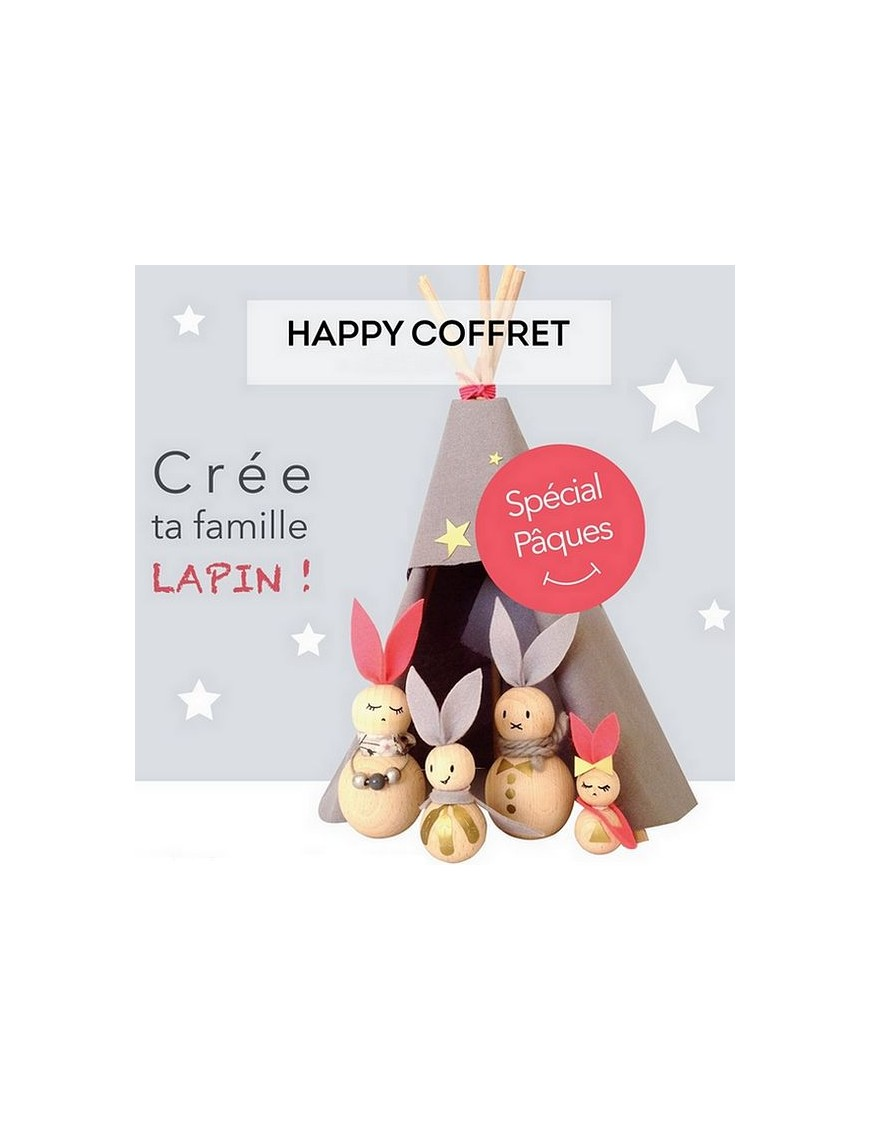 Kit créatif crée ta famille lapin