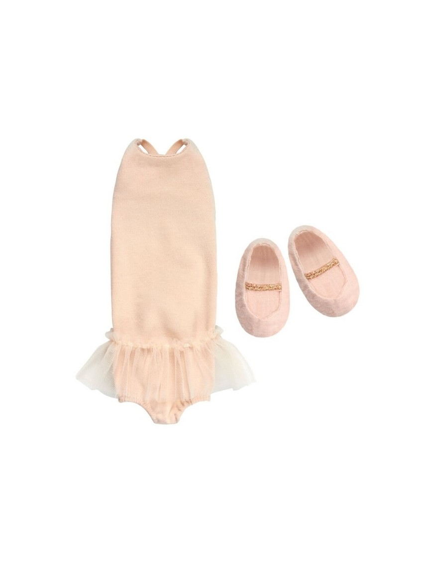 Maileg set gymsuit & ballerines, medium