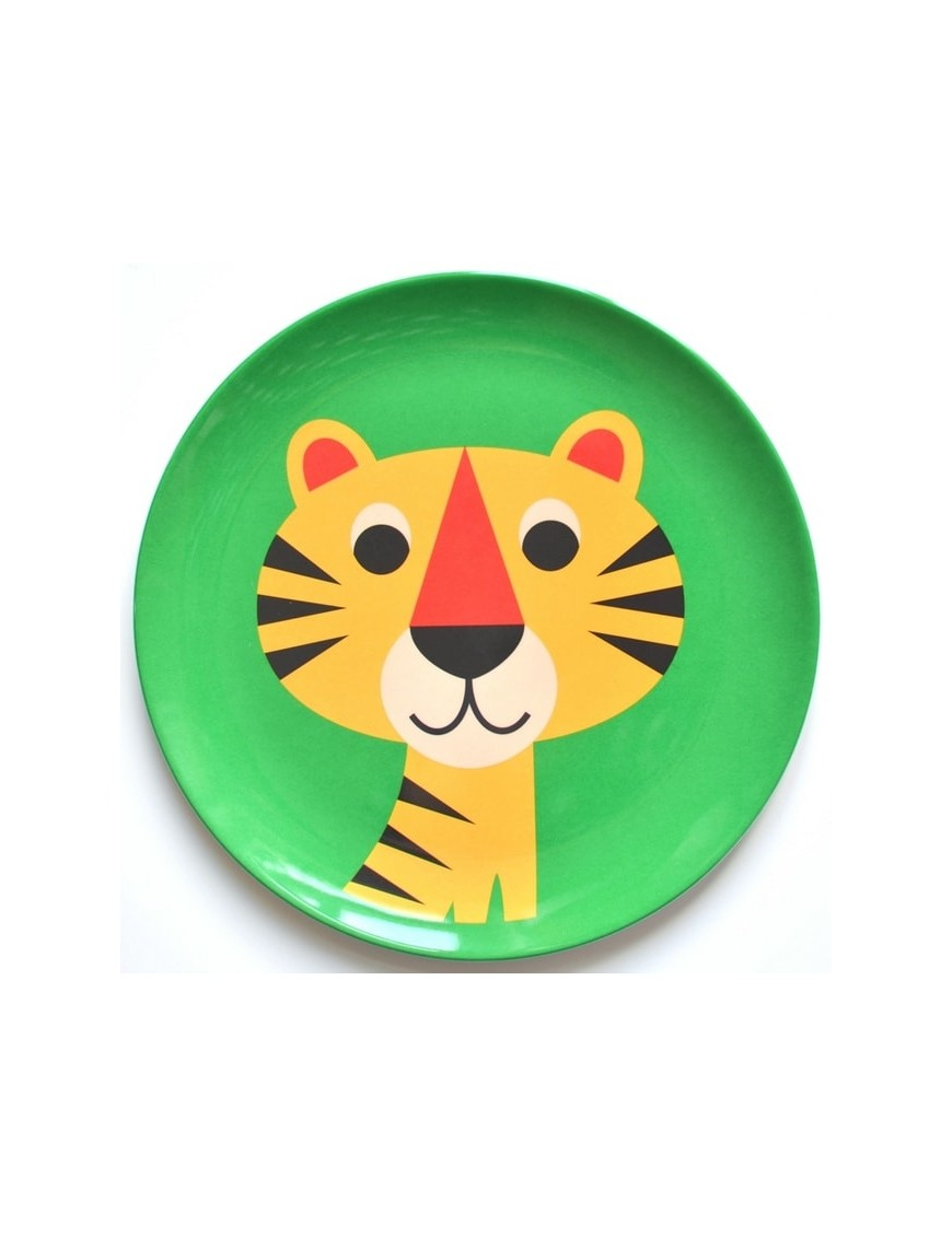Ingela P. Arrhenius assiette enfant mélamine, tigre