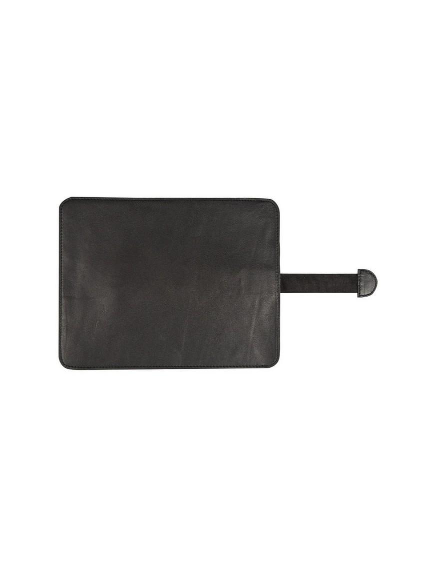 étui pour Ipad en cuir noir (27x21cm) - Byon / On Interior