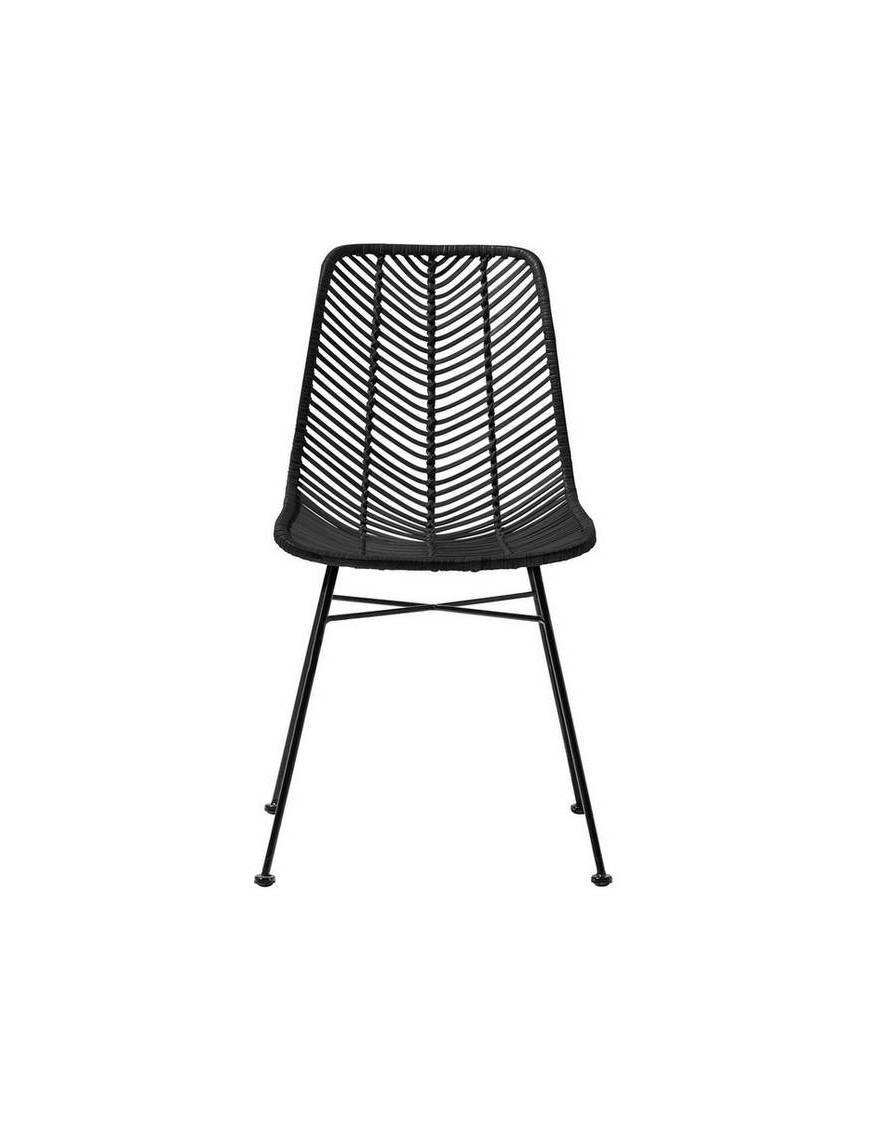 "chaise rotin noir ""Lena"" - Bloomingville"