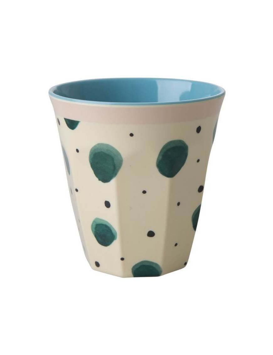 "Gobelet RICE : verre mélamine ""watercolor splash"" (medium)"