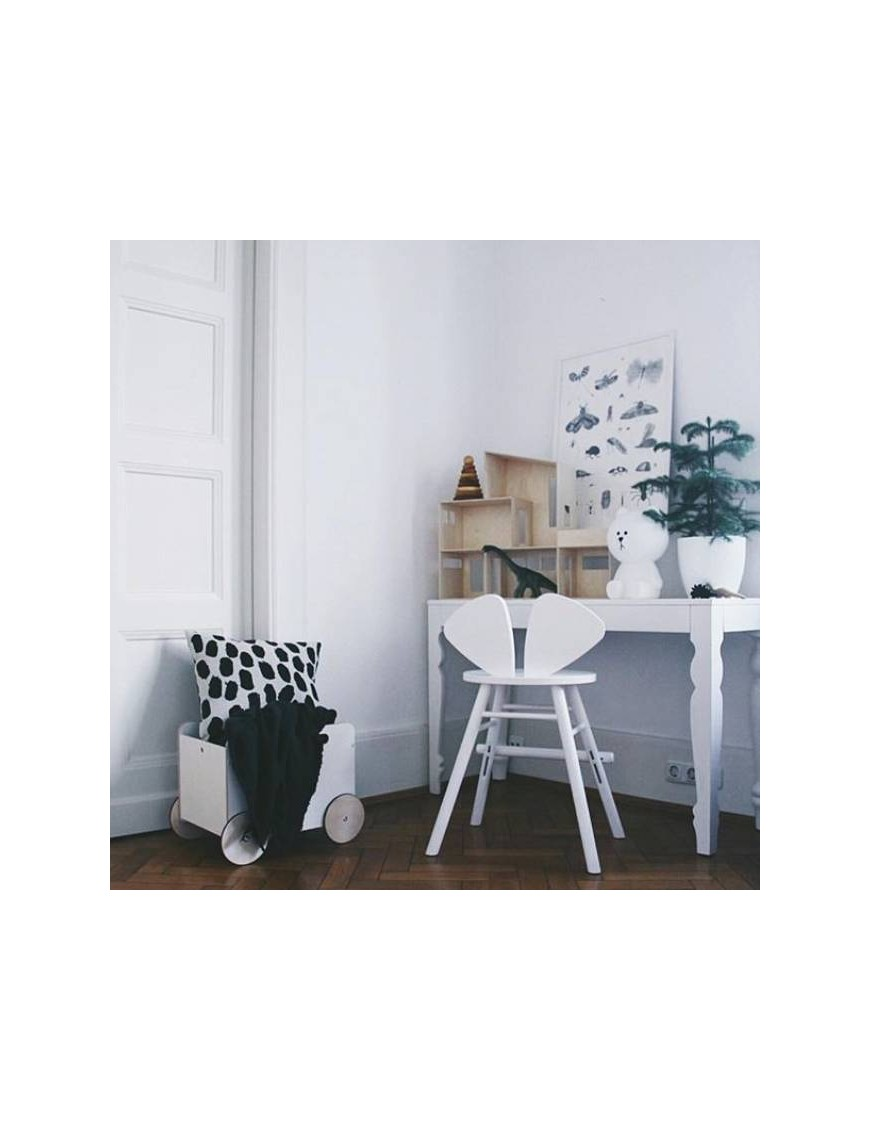 Chaise junior Mouse blanche - hauteur réglable