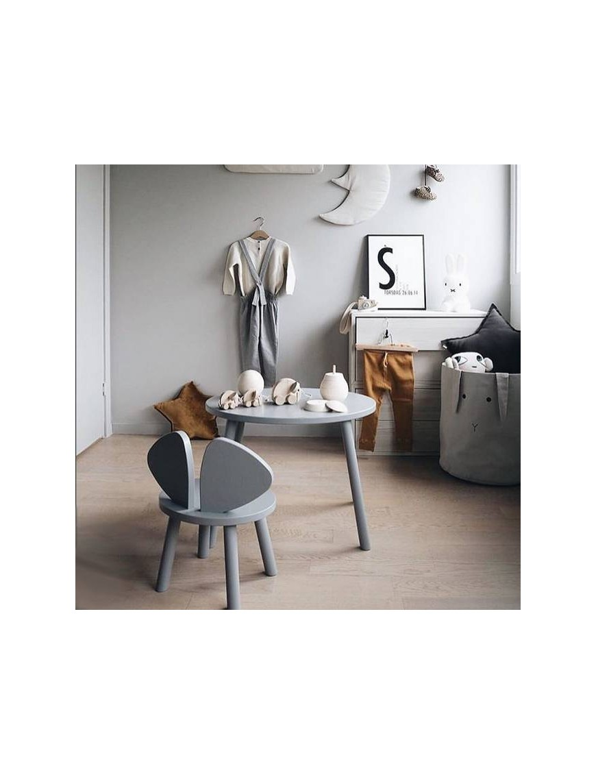 "Table ""Mouse"" grise (3-5 ans)"