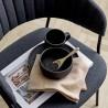 """Assiette noire """"Neri"""" Ø23cm Bloomingville"""