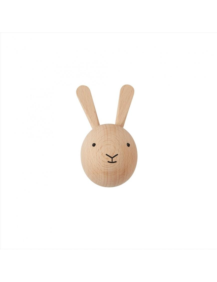 Patère lapin en bois OYOY mini