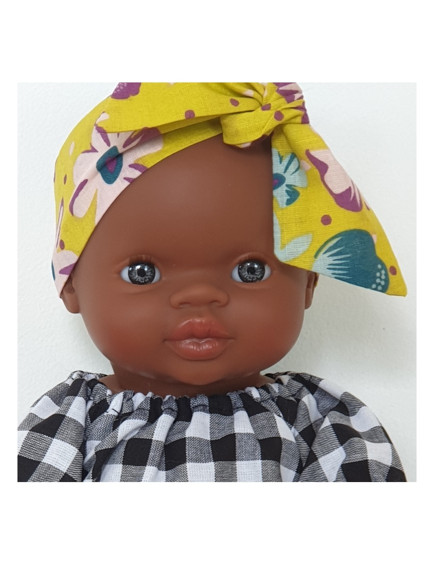 "Poupon fille africaine ""Gordi"" : robe & bandeau"