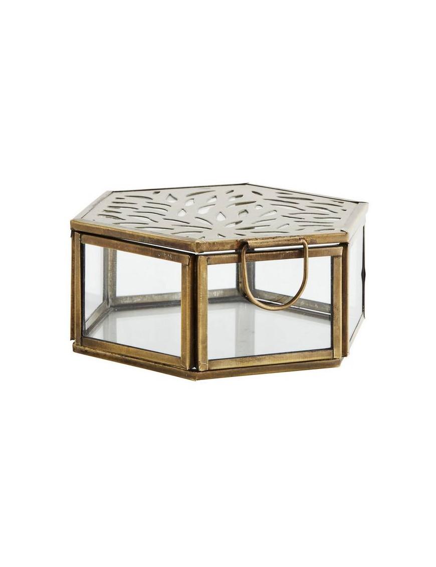 Boîte hexagonale en verre Madam Stoltz