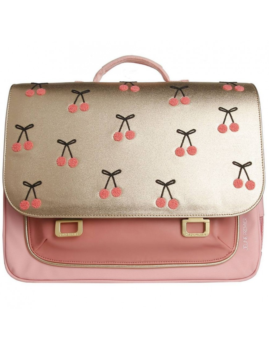 "Jeune Premier cartable it bag midi ""cherry pompon"""