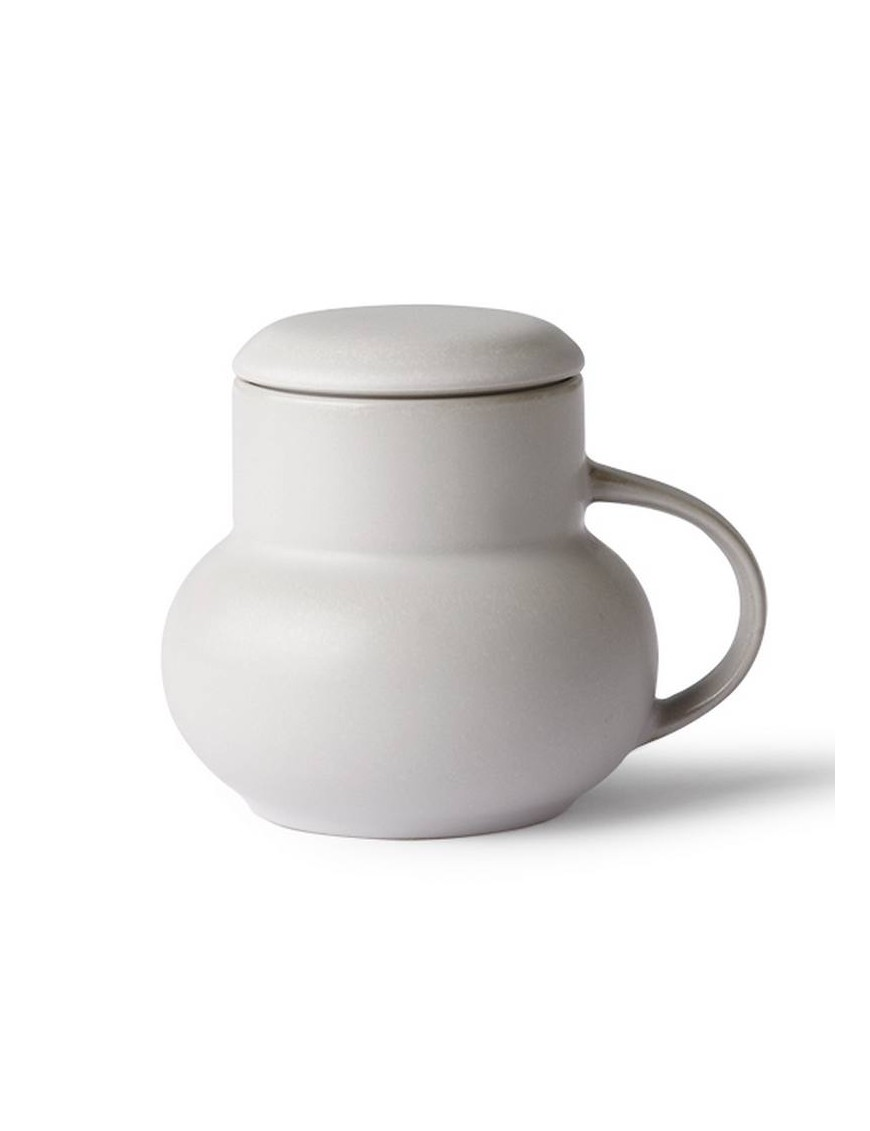 """Mug gris avec couvercle """"bubble"""" HK living"""
