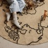 Ferm living tapis rond jute world, small