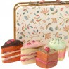 Maileg - service à thé & gâteaux dans valise en métal