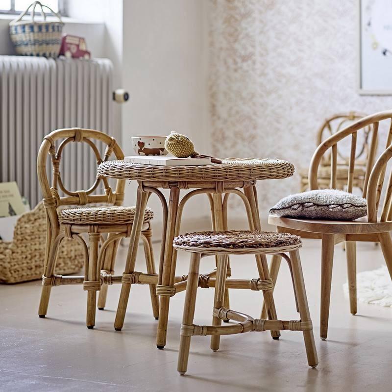 "Table enfant en rotin ""Anja"" Bloomingville mini"
