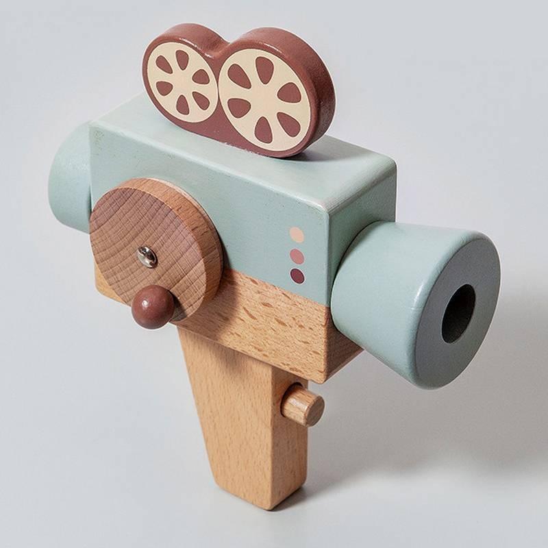 Jouet caméra en bois