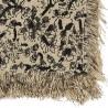 Nappe fleurs noires 150x150cm Madam Stoltz