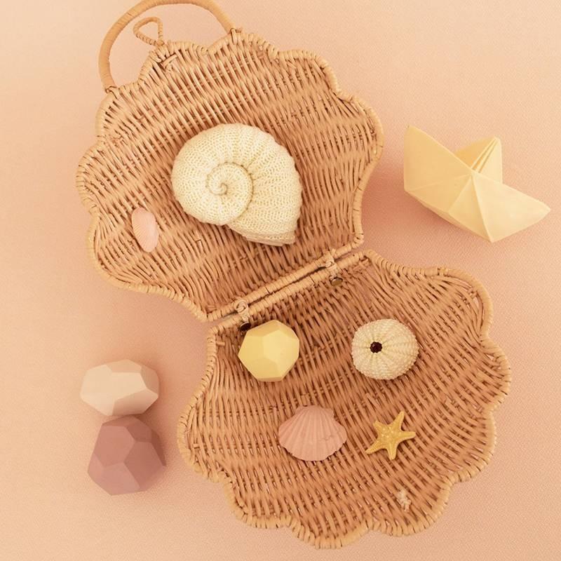 """Panier coquillage """"shell"""", straw Olli Ella"""