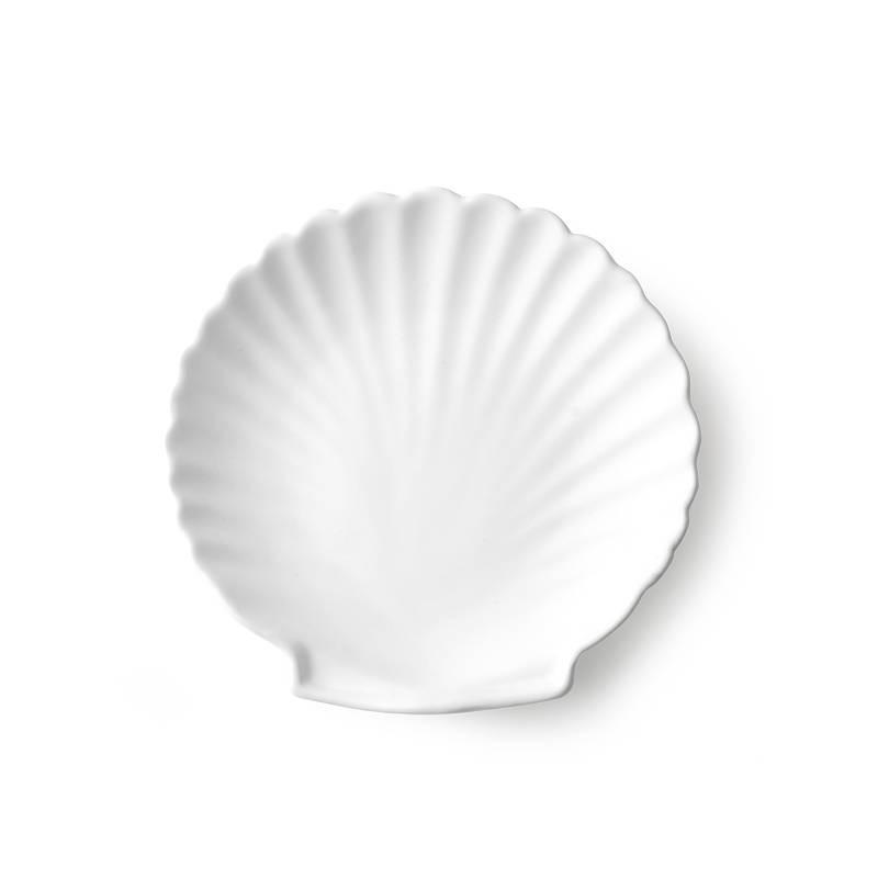 Assiette blanche coquillage D.14cm : athena ceramics