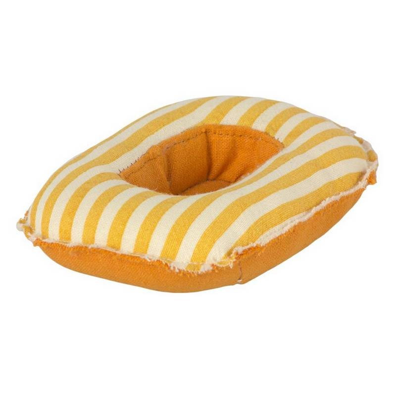 Maileg bateau pneumatique à rayures jaunes