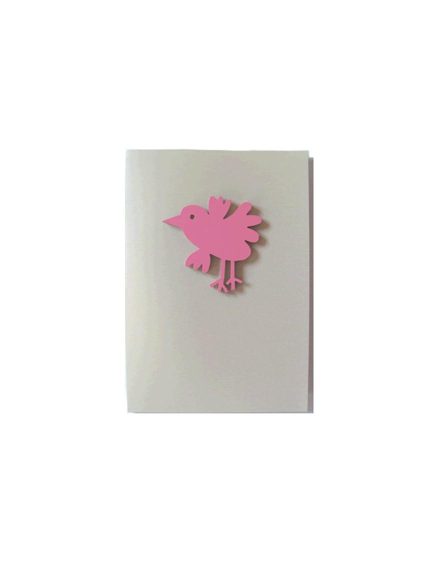 Carte double avec magnet Oiseau, Miriam Berenson