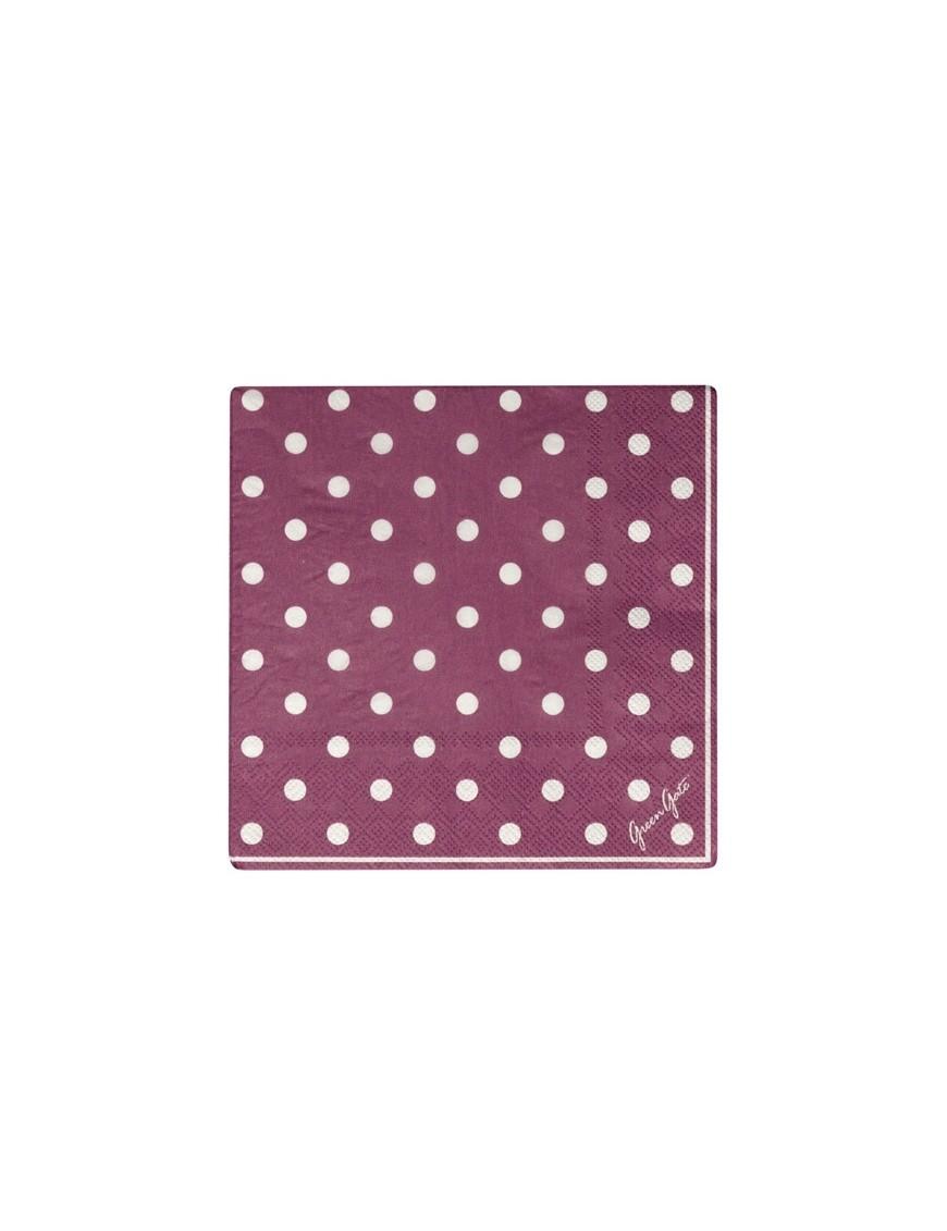 Greengate - Serviettes en papier Naomie Plum (x 20)