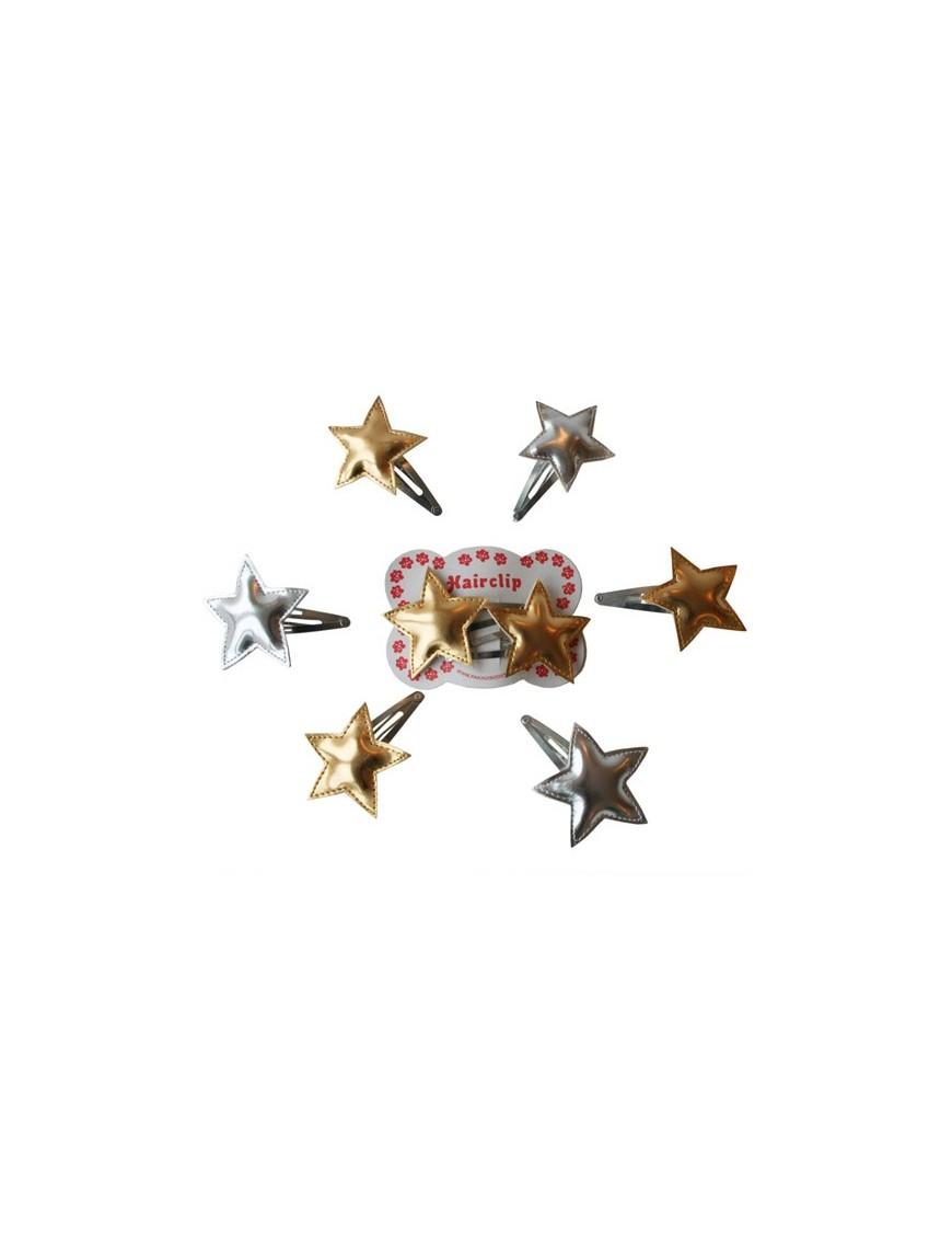 pakhuis oost barrette fille - étoile argentée