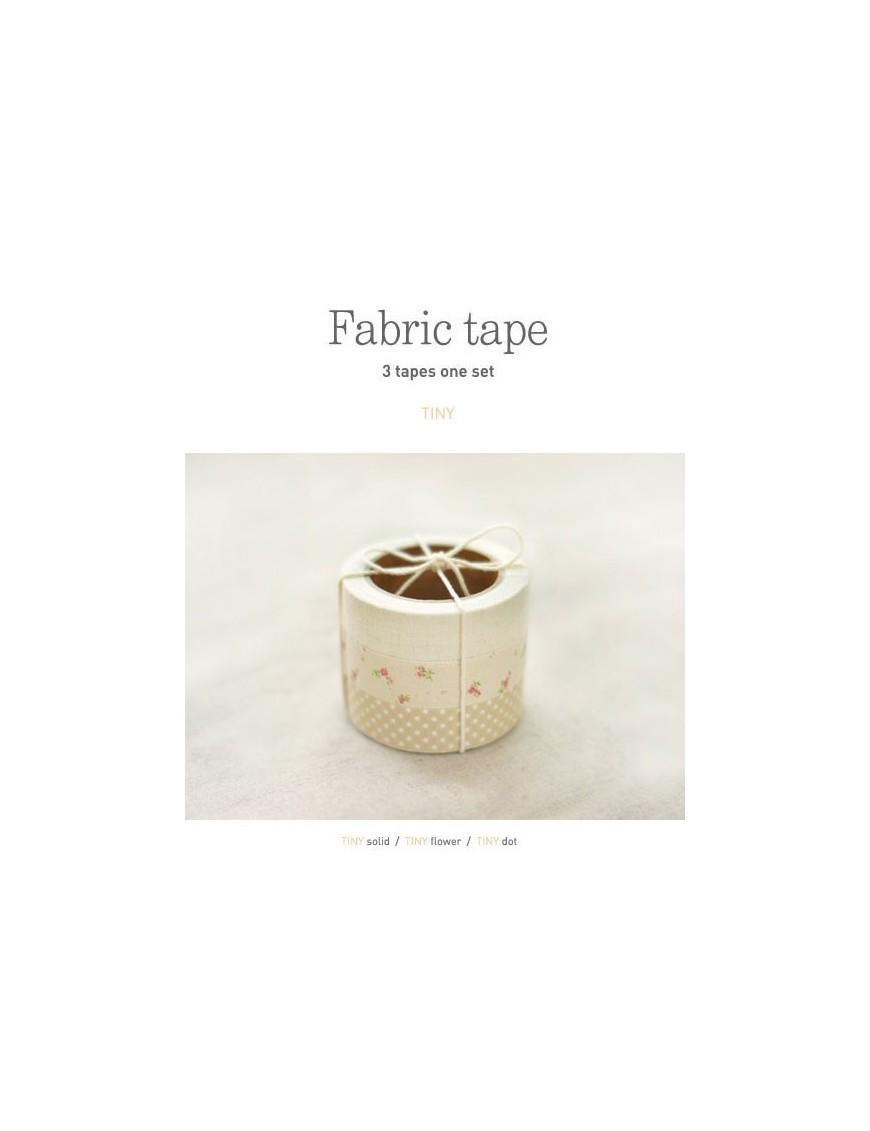 Fabric Tape - Set de 3 Rouleaux d'Adhésifs en Tissu - Tiny