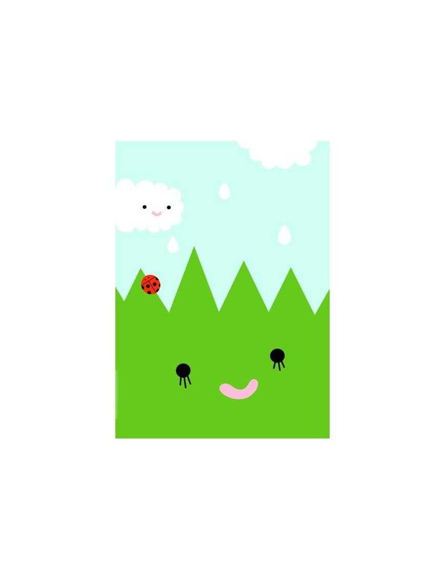 """Noodoll affiche""""Happy Grass"""""""