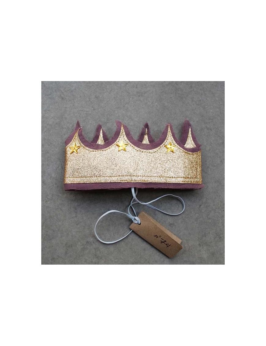 numero 74 couronne de princesse pailletée